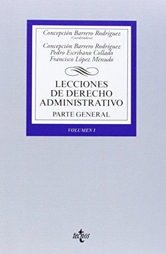 Lecciones De Derecho Administrativo / Administrative Law: RodrÍguez, ConcepciÓn Barrero/