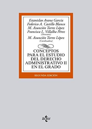 9788430962983: Conceptos para el estudio del Derecho administrativo II en el grado (Derecho - Biblioteca Universitaria De Editorial Tecnos)