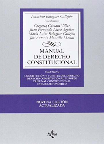 Manual de derecho constitucional / Manual of
