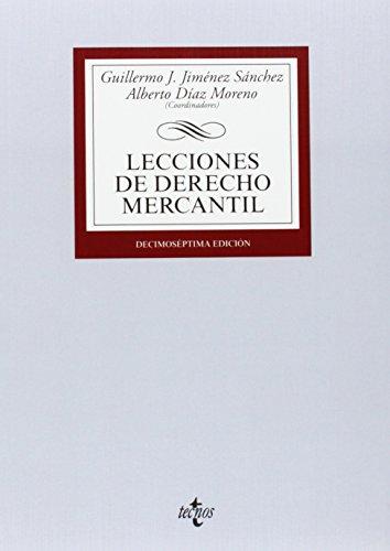 9788430963300: Lecciones De Derecho Mercantil (Derecho - Biblioteca Universitaria De Editorial Tecnos)
