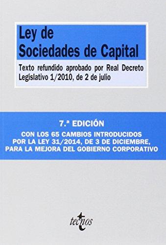 9788430965229: Ley De Sociedades De Capital - 7ª Edición (Derecho - Biblioteca De Textos Legales)