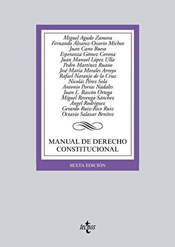 9788430966479: Manual de Derecho Constitucional (Derecho - Biblioteca Universitaria De Editorial Tecnos)