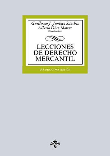 9788430966578: LECCIONES DE DERECHO MERCANTIL (18� ED.2015)
