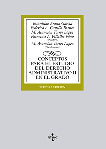 9788430966622: Conceptos para el estudio del Derecho administrativo II en el grado (Derecho - Biblioteca Universitaria De Editorial Tecnos)