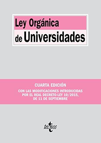 9788430968220: Ley Orgánica de Universidades (Derecho - Biblioteca de Textos Legales)