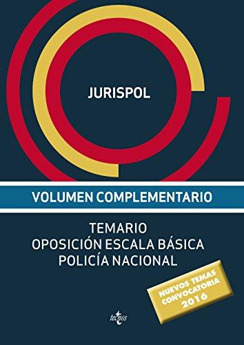 9788430969319: Volumen complementario. Temario oposición escala básica policía nacional (Derecho - Práctica Jurídica)