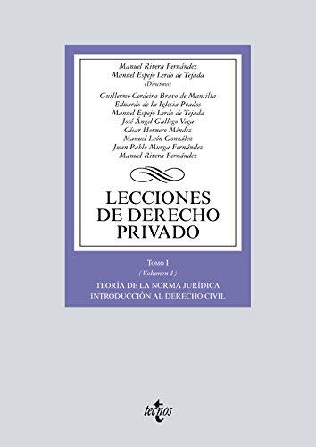 Lecciones de Derecho privado. Tomo I (Volumen: Murga Fernández, Juan