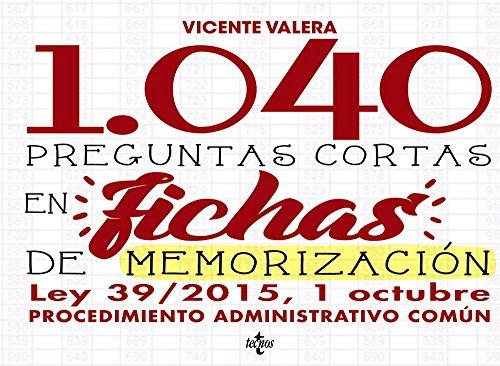 1040 Preguntas cortas en fichas de memorización: Valera, Vicente