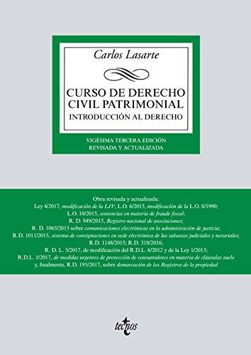 CURSO DE DERECHO CIVIL PATRIMONIAL INTRODUCCIÓN AL: LASARTE, CARLOS