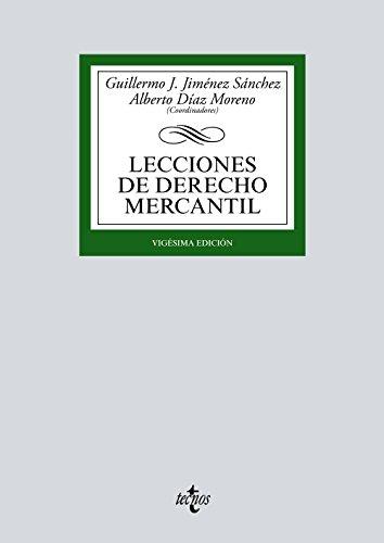 LECCIONES DE DERECHO MERCANTIL: Guillermo J. Jiménez