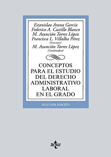 Conceptos para el estudio del derecho administrativo: Pallarés Ayala, José