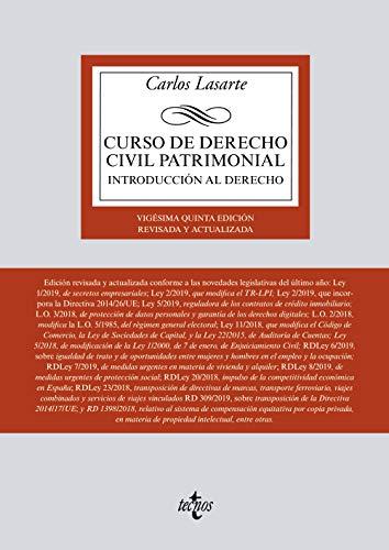 CURSO DE DERECHO CIVIL PATRIMONIAL: Introducción al: Lasarte, Carlos