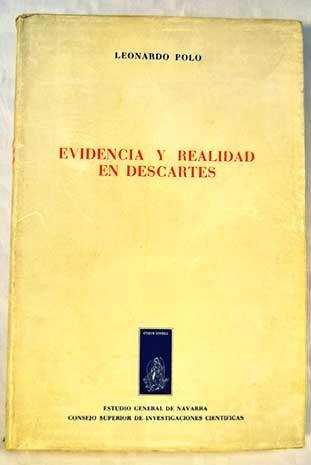 9788431301088: Evidencia y realidad en Descartes (Colección filosófica)