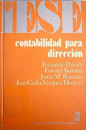 9788431301897: Contabilidad para dirección (Colección Manuales IESE)