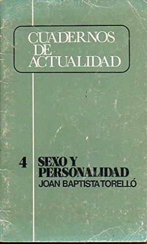 9788431304133: Sexo y personalidad (Cuadernos de actualidad ; 4) (Spanish Edition)