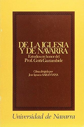 De la Iglesia y de Navarra: Saranyana, José Ignacio