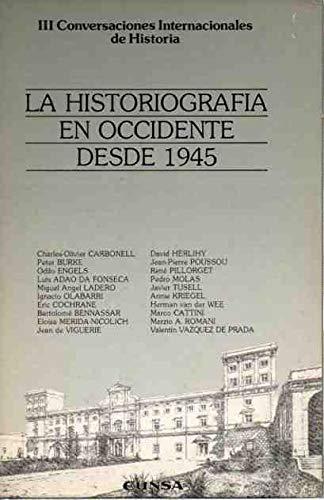 La historiografía en Occidente desde 1945: Eunsa. Ediciones Universidad
