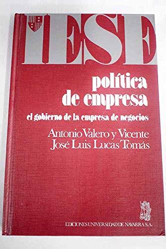 9788431311193: Política de empresa (Colección Manuales IESE)