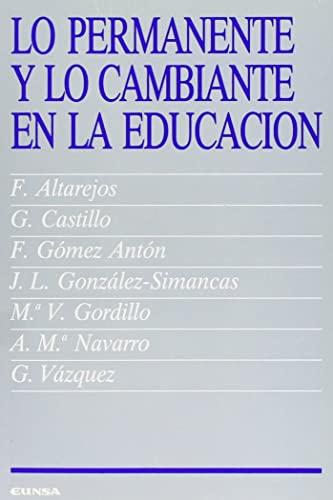 PERMANENTE Y LO CAMBIANTE EN L: Gerardo . [et