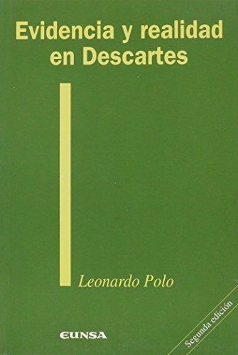 9788431314323: Evidencia y realidad en Descartes (Colección filosófica)