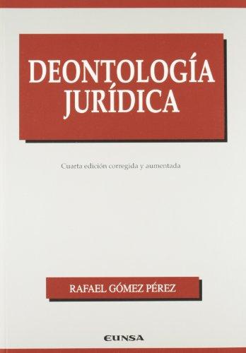 9788431317348: Deontología jurídica (Manuales (Universidad de Navarra. Facultad de Derecho))