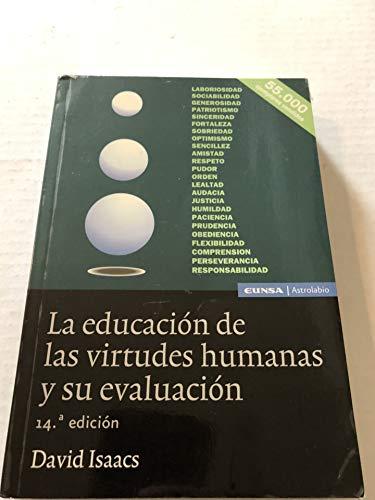 9788431320812: 65.EDUCACION DE LA VIRTUDES HUMANAS Y SU EVALUACION, LA