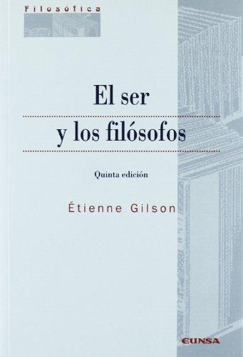 9788431322830: El ser y los filósofos (Colección filosófica)