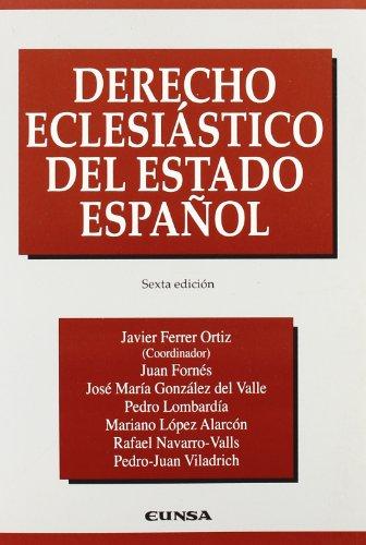 9788431324964: Derecho eclesiástico del estado español
