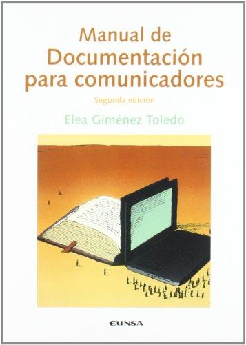 9788431325022: Manual de documentación para comunicadores (Comunicación)