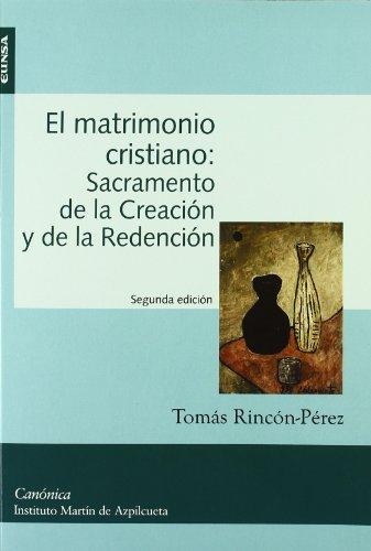 9788431325190: Estudios canónicos: El matrimonio cristiano: sacramento de la creación y de la redención: Vol.1
