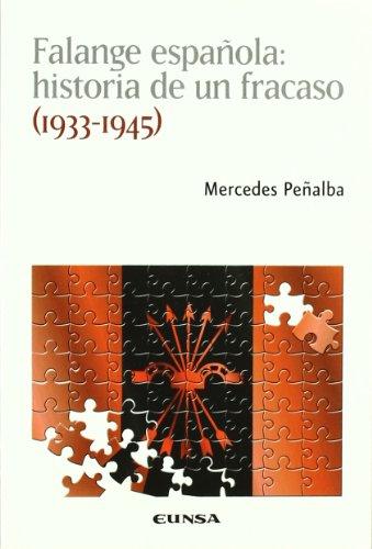 9788431326067: Falange española : historia de un fracaso (1933-1945)