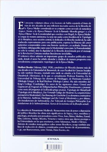 9788431326166: Tipología de la metafísica: la época media (Colección de pensamiento medieval y renacentista)