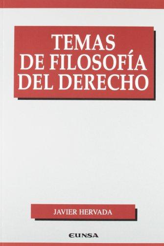 9788431328740: Temas de filosofía del derecho (Manuales (Universidad de Navarra. Facultad de Derecho))