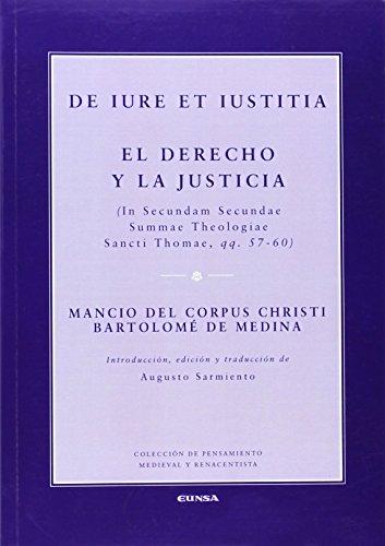 9788431329518: De iure et iustitia = El derecho y la justicia