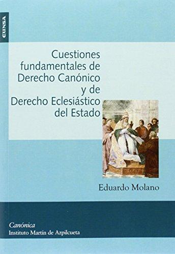 9788431330361: Cuestiones fundamentales de Derecho Canónico y de Derecho Eclesiástico del Estado