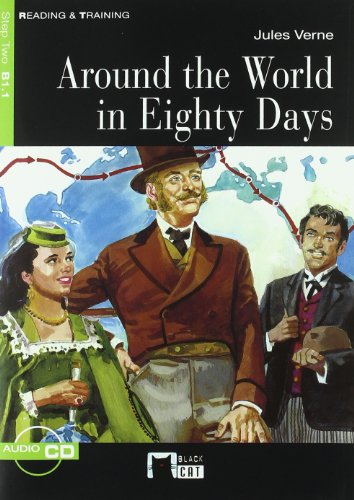 9788431655792: Around The World In Eighty Days. Book (+CD) (Black Cat. reading And Training)