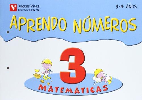 9788431671358: Aprendo Numeros Cuaderno 3 (3-4 A�os)