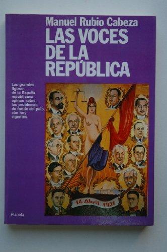 9788432006524: Voces de la republica, las (Colección Textos)