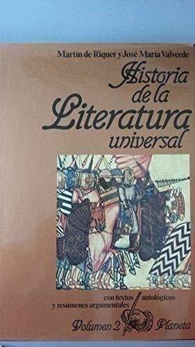 Historia de la literatura universal (Volumen 2): Martin de Riquer