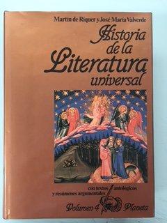 Historia de la Literatura Universal 5. El: Martin de Riquer