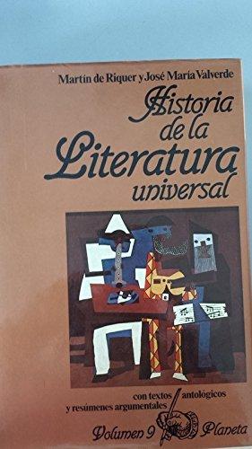 Historia de la literatura universal (Volumen 9): Martin de Riquer