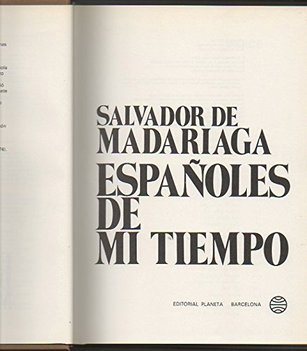 9788432056093: Españoles de mi tiempo (Espejo de España)