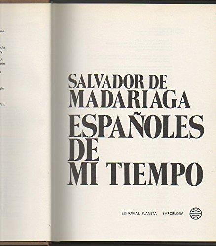 9788432056093: Españoles de mi tiempo (Espejo de España) (Spanish Edition)