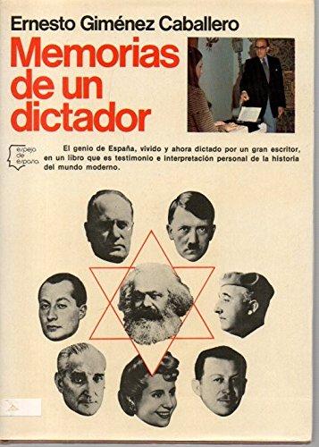 9788432056499: Memorias de un dictador (Espejo de Espana) (Spanish Edition)