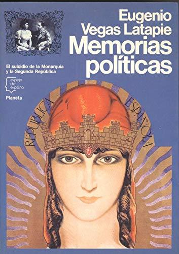 9788432056864: Memorias politicas (Espejo de España)