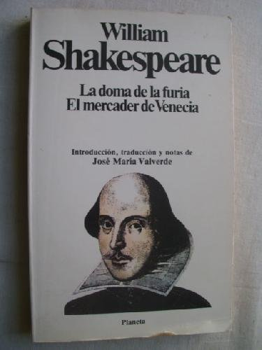Doma de la furia, la;el mercader de venecia: WILLIAM SHAKESPEARE