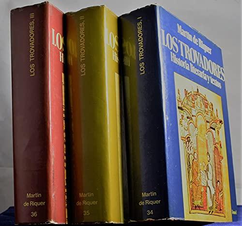 9788432076008: Los Trovadores: Historia Literaria Y Textos, 3 Tomos (Ensayos Planeta De Linguistica Y Critica Literaria) (Spanish Edition)