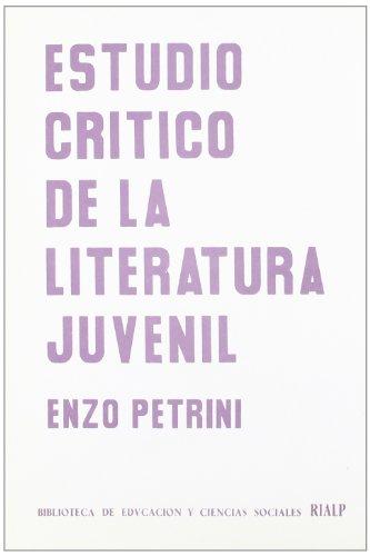 9788432113390: Estudio critico de la literatura juvenil