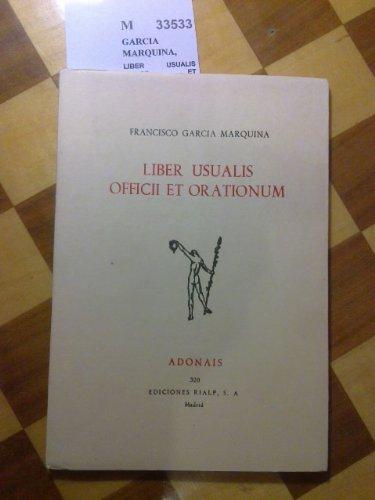 9788432118142: Liber usualis officii et orationum (Adonais ; 320) (Spanish Edition)