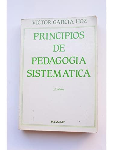 9788432118159: Principios De Pedagogia Sistematica